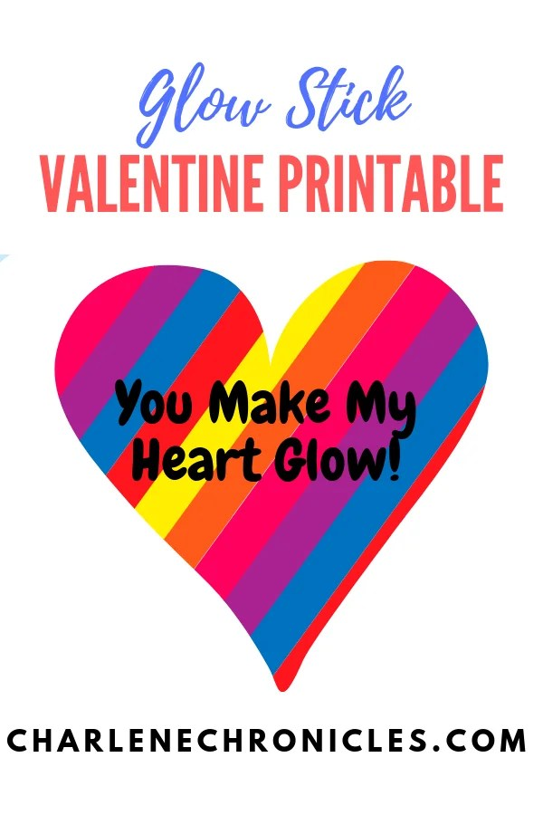 picture relating to You Make My Heart Glow Printable referred to as Valentine Printable - Shine Adhere Card for Youngsters - Charlene