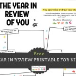 A Year in Review: Free Printable for Kids