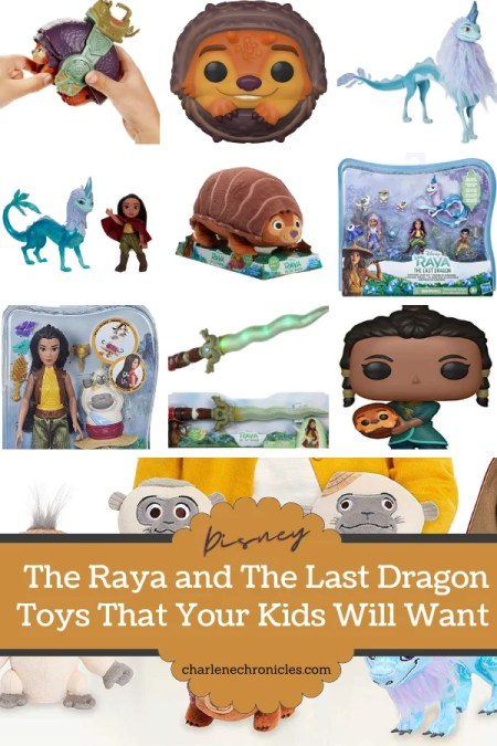 15 raya and the last dragon toys in a grid