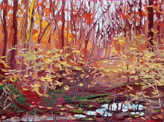Save Yellowwood Forest Protest plein air oil painting Charlene Marsh