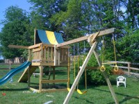 Building a Swing Set for Backyard Play