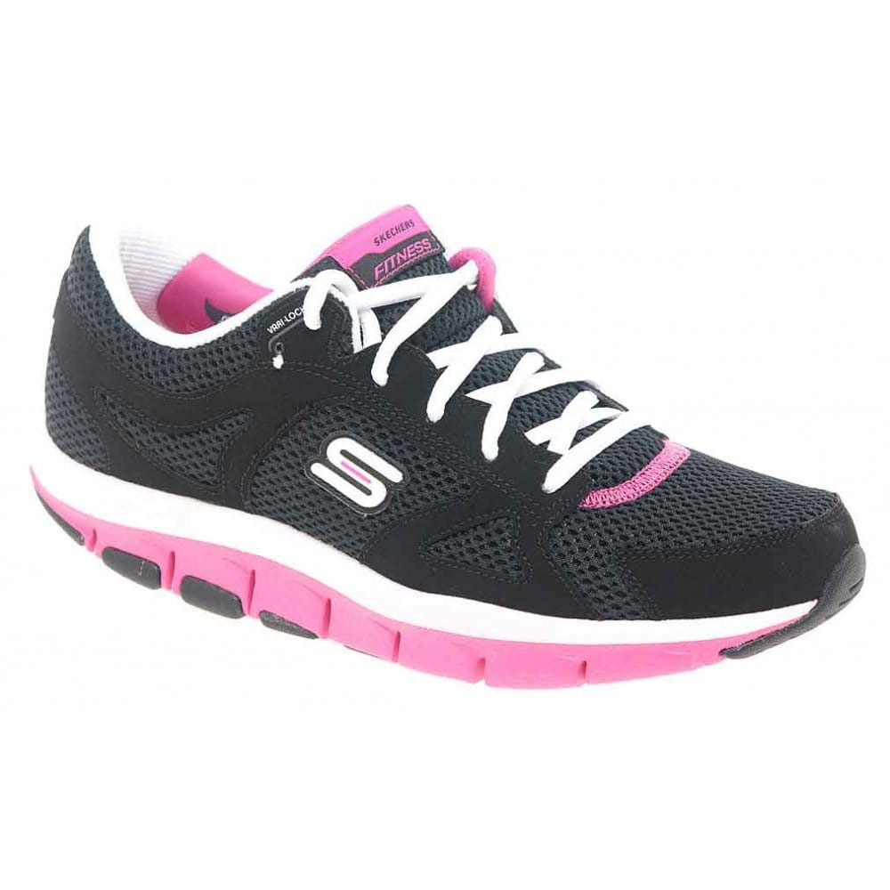 Skechers Liv Smart Black and Pink Shape-Up Trainers - Skechers from Charles Clinkard UK