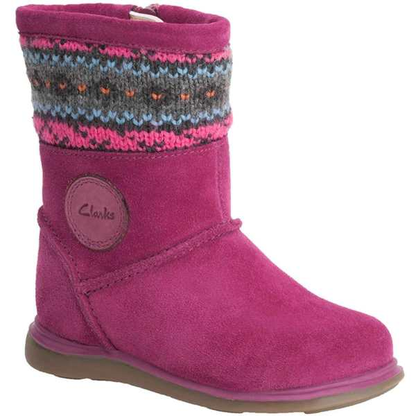 Clarks Snuggle Knit Girls Boots - Charles