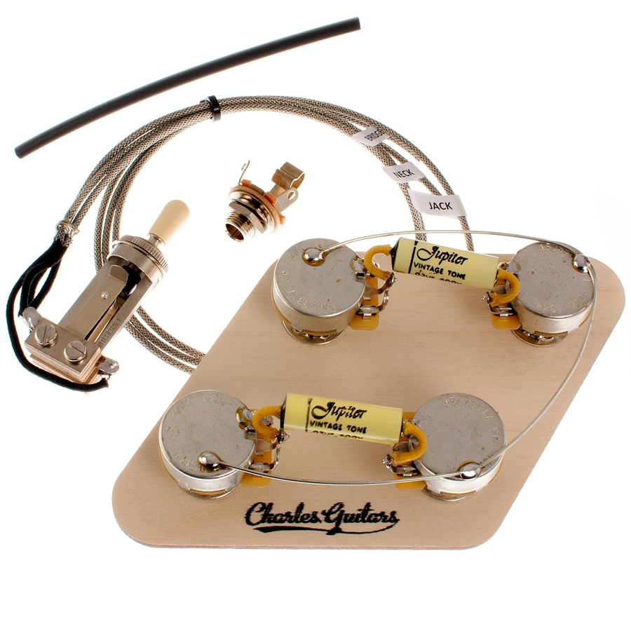 medium resolution of long shaft les paul premium pre wired jupiter kit tap to expand