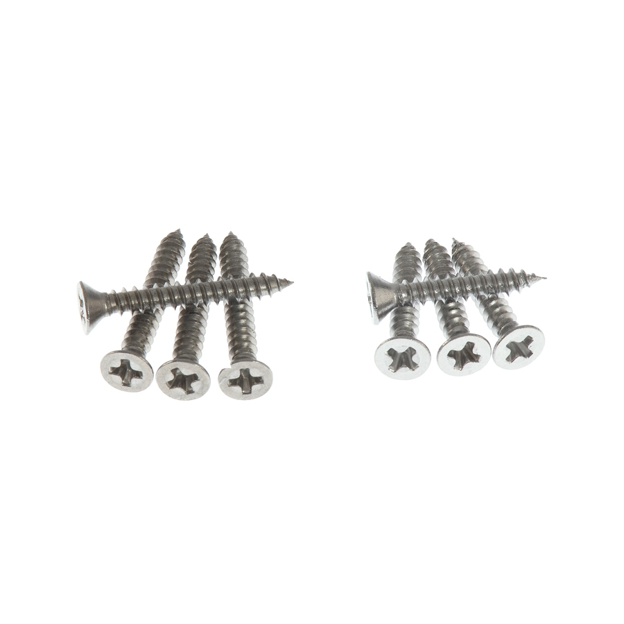 Humbucker Ring Surround Screws in Natural Stainless Steel