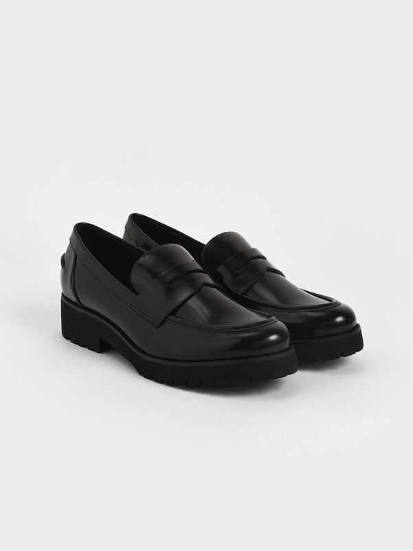 Platform Penny Loafers Charles & Keith