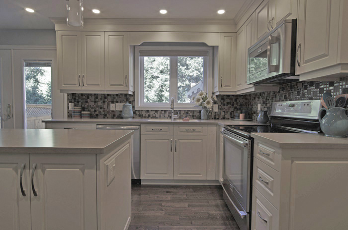 Offwhite kitchen cabinets  new kitchen delivers more