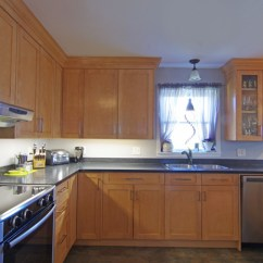 Spraying Kitchen Cabinets Modern Undermount Sink Solid Birch Shaker With Plenty Of Room For A ...