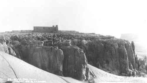 Acoma and the San Esteban del Rey Mission (1629), photographed by Lummis in 1891. Courtesy of the Southwest Museum, Los Angeles, no. N24466.