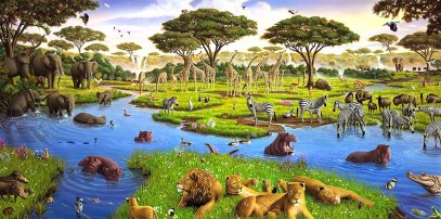 African Watering Hole, revised 2015