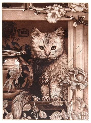 Kitten in the Window