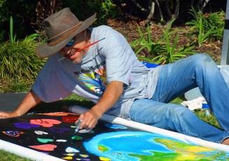 Long Beach Aquarium, mural project, 2010.