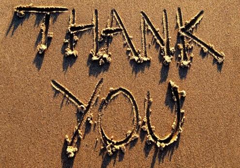 Always thankful, always grateful.
