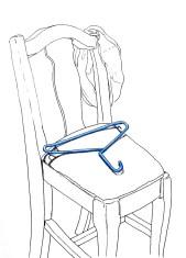 Blue Hanger on Chair