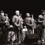 Charles with Phil Woods, Frank Morgan and James Moody in San Francisco's 75th anniversary tribute to Charlie Parker - 1995
