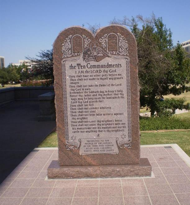 Oklahoma: The Ten Commandments v. Satan