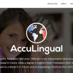 Acculingual - Wordpress website