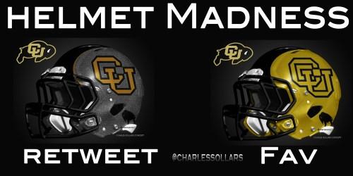 Colorado Buffs helmet madness round 3 set 2