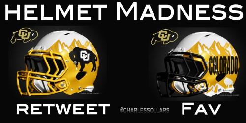 Colorado Buffs helmet madness round 3 set 3
