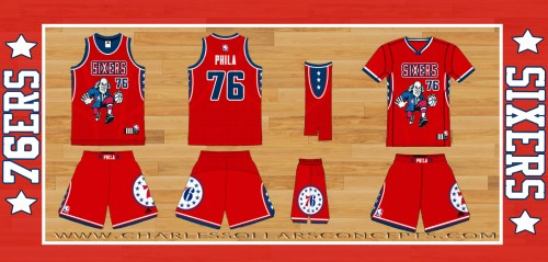 76ERS red frank