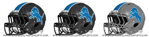 nfl 3 helmet lions