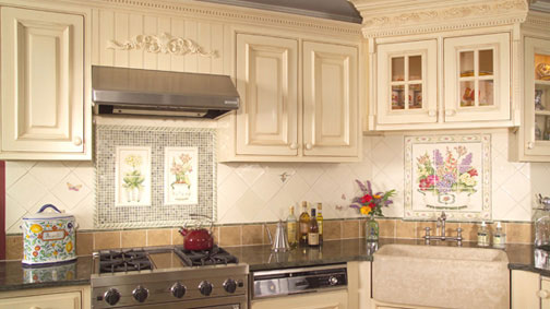 kitchen tile murals white cabinets for sale stockton nj charles tiles inc