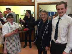 Sharon from the canteen received the haggis