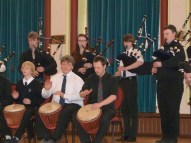 African drums and Scottish pipes