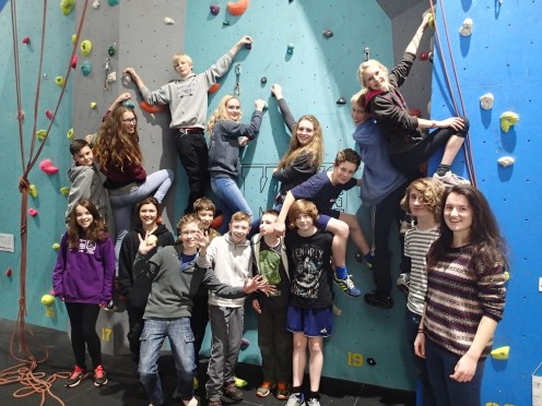 Climbing Club Team Photo