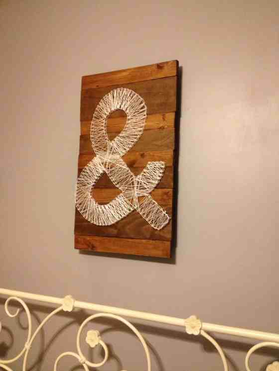 DIY Ampersand String Art - Charleston Crafted