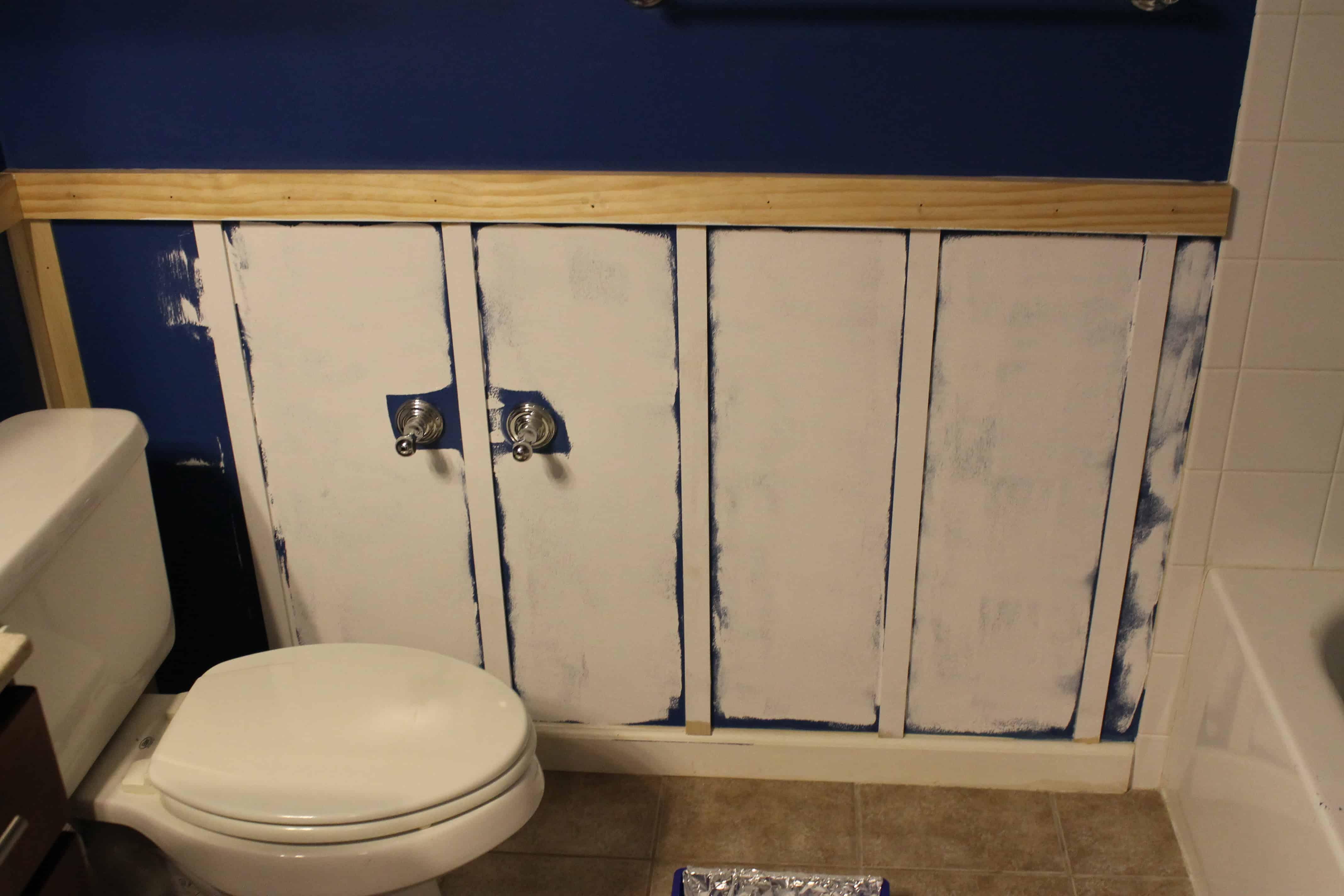 adding board & batten to a bathroom • charleston crafted