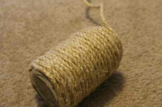 Rope Bud Vase from a Jelly Jar - Charleston Crafted
