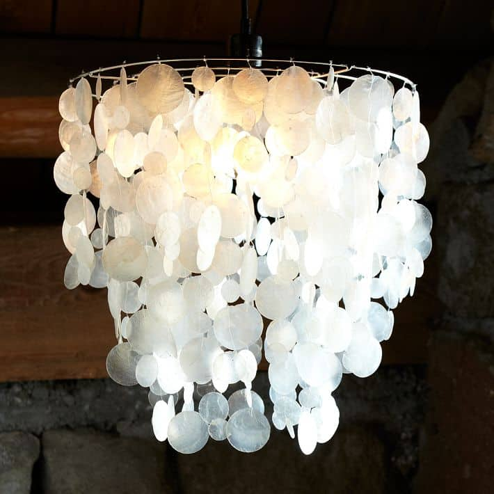 however we are trying to do this update as close to nocost as possible and west elm wanted 149 for theirs - Capiz Shell Chandelier