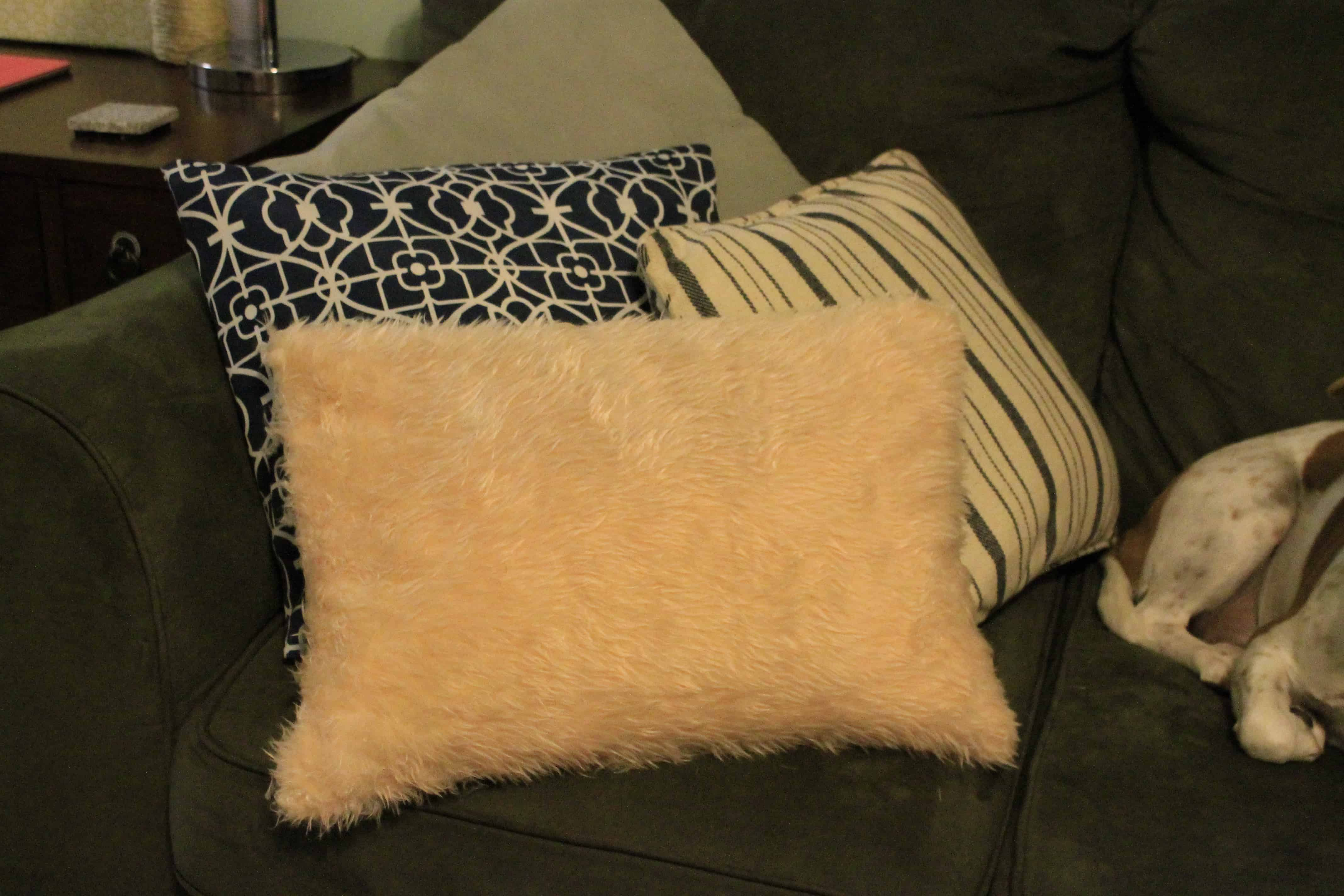 Super Easy Faux Fur Pillow Charleston Crafted