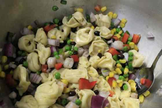Confetti Tortellini Salad - Charleston Crafted