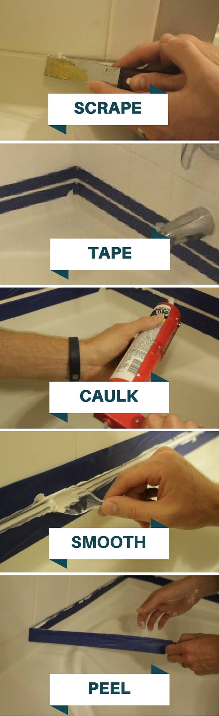 Refresh your Tub by Replacing the Caulk • Charleston Crafted