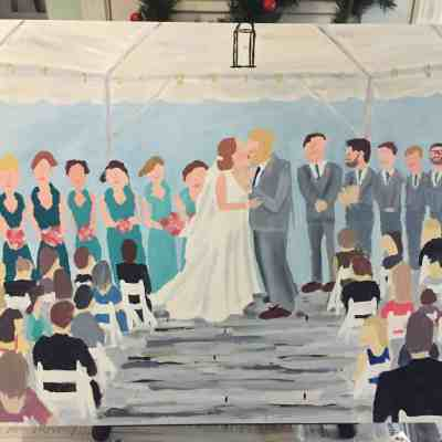 A Homemade Wedding Painting