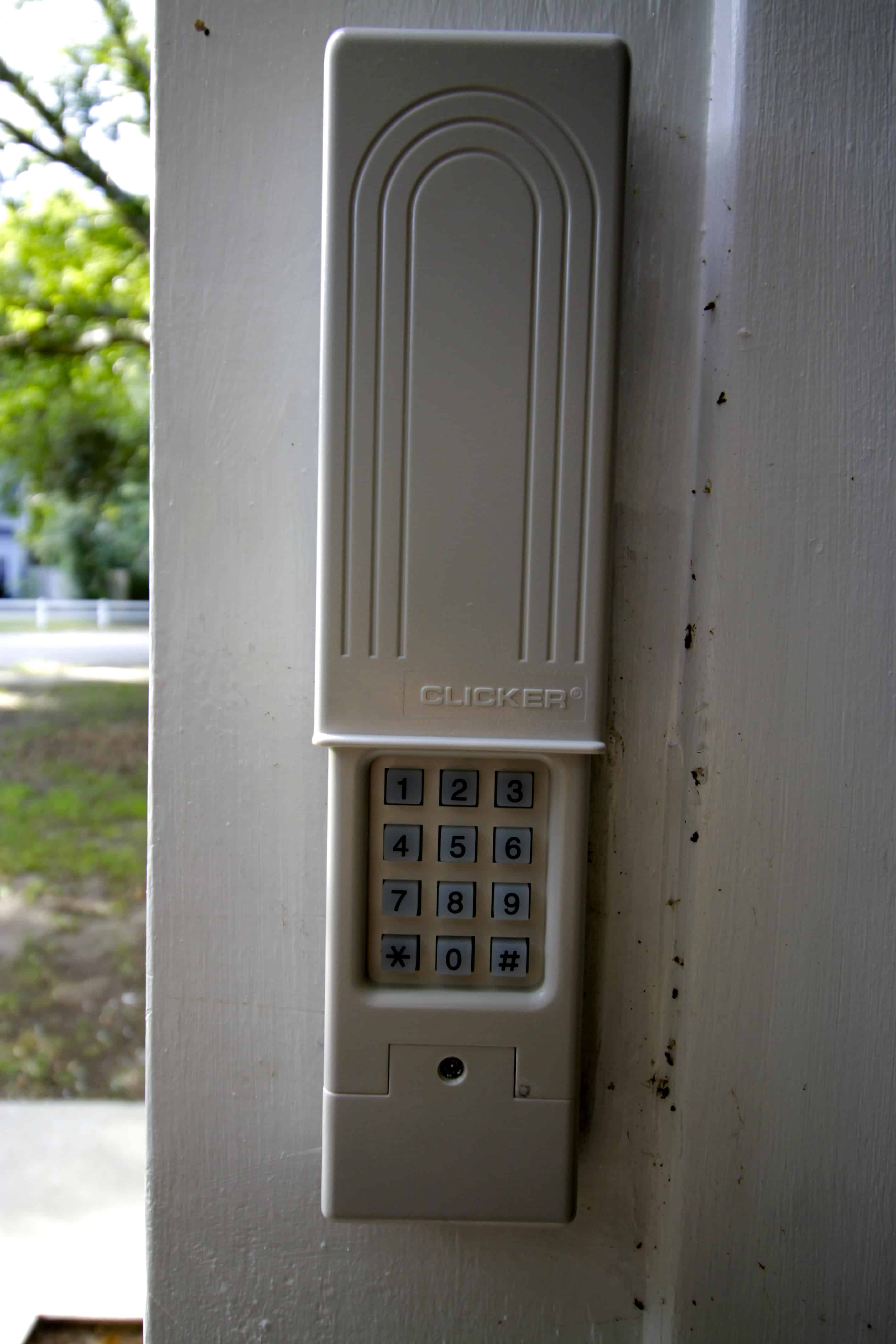 How to Replace a Garage Door Keypad