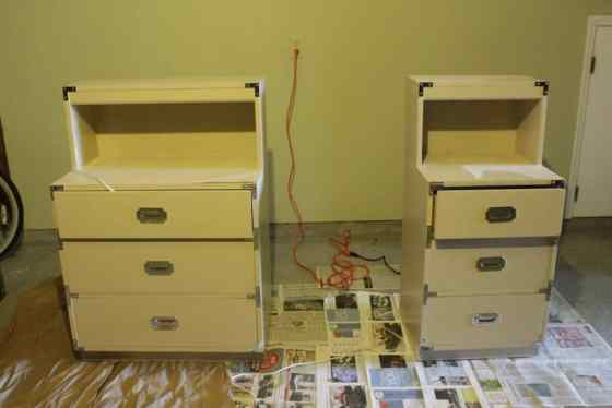 A Campaign Dresser and Side Table Makeover - Charleston Crafted