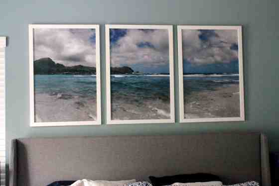 Gorgeous Kauai Photo Triptych Over the Bed - Charleston Crafted