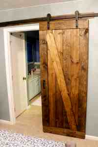 Easiest & Cheapest Way to Build a Rustic Barn Door ...