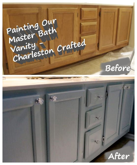Painting Bathroom Cabinet painting our bathroom vanity • charleston crafted