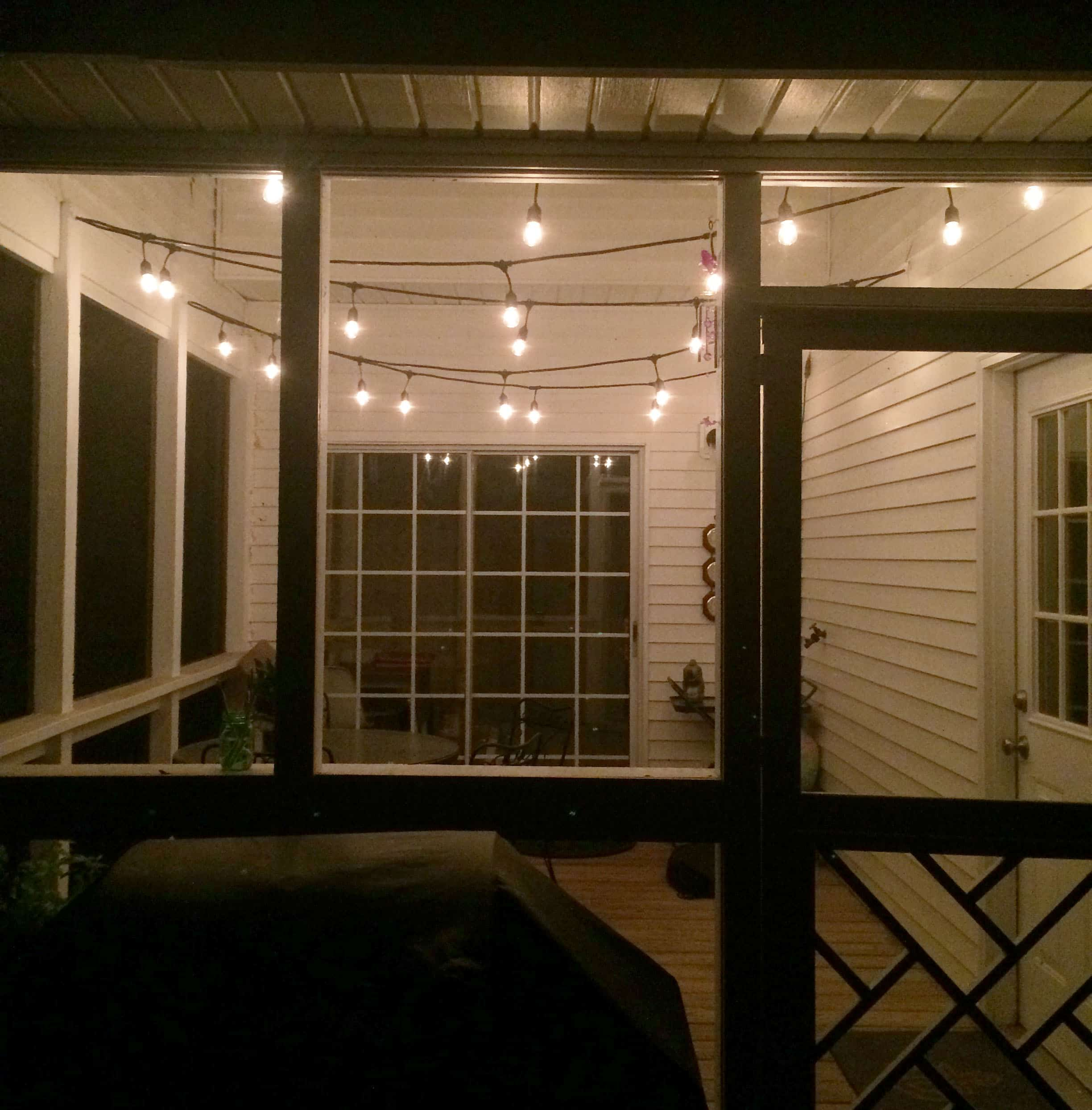 How To Hang String Lights On Screened Porch : String Lights for the Screened Porch Charleston Crafted