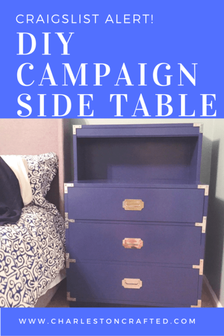 craigslist alert! I got 2 campaign dressers for $60 and completely made them over to work as side tables. Check it out! Charleston Crafted
