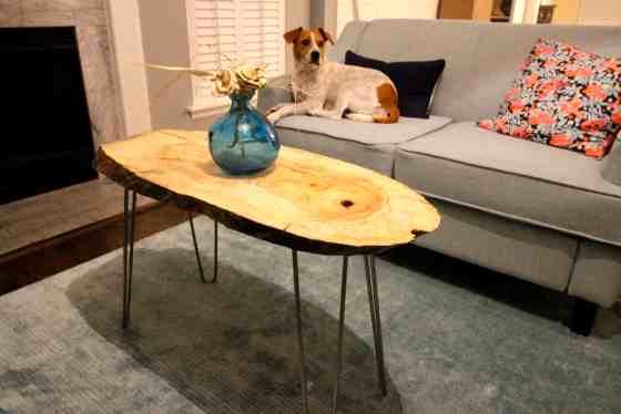 DIY Live Edge Wood Slab Coffee Table via Amazon The Lumber Shack - Charleston Crafted