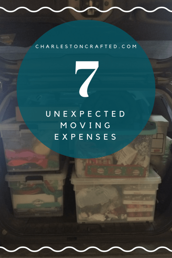 7 Unexpected Moving Expenses - Charleston Crafted