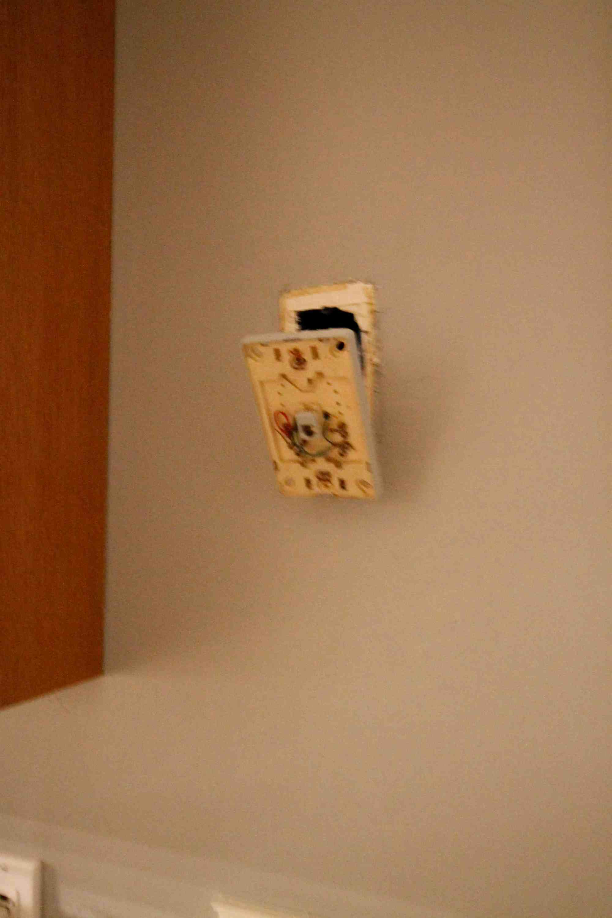 hight resolution of patching drywall over an old phone jack charleston crafted