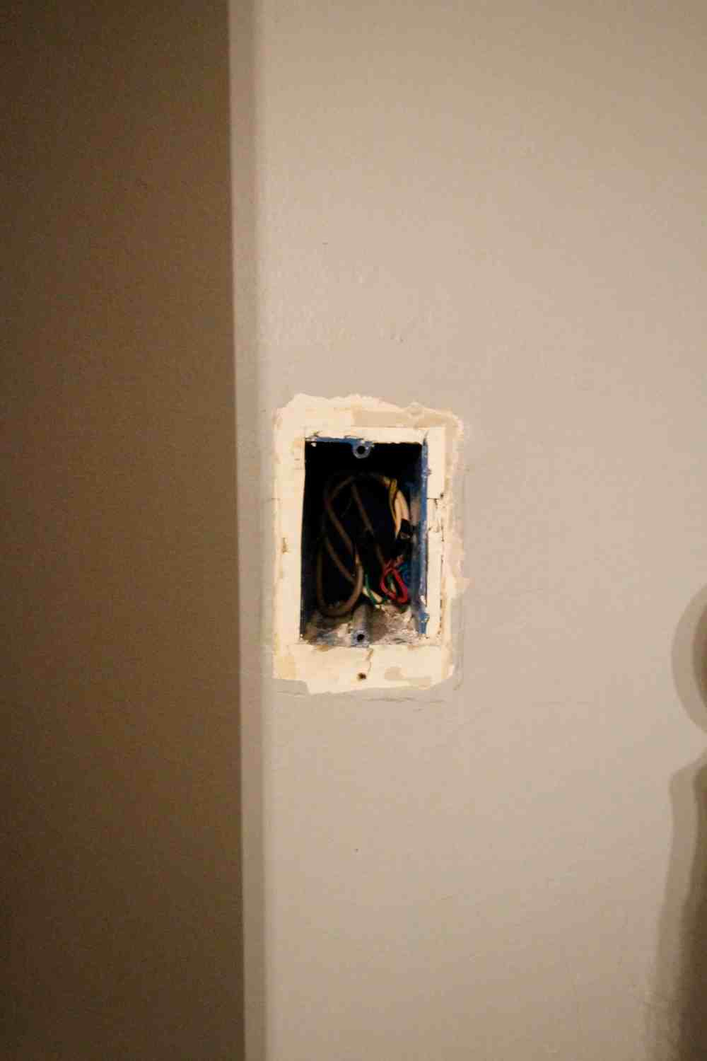 medium resolution of patching drywall over an old phone jack charleston crafted