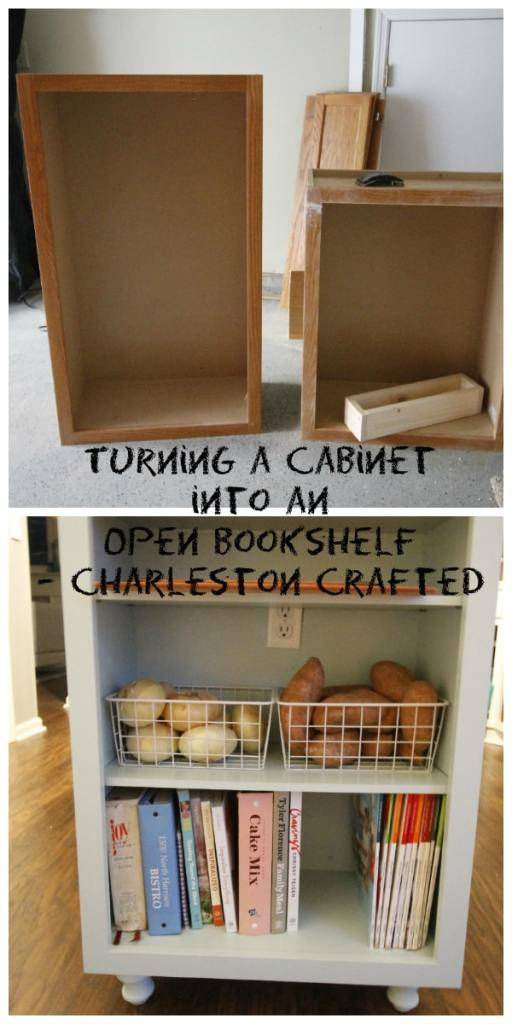 Turning a Cabinet  into an  Open Bookshelf