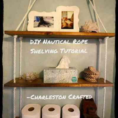 DIY Nautical Rope Shelving Tutorial for the $100 Room Challenge